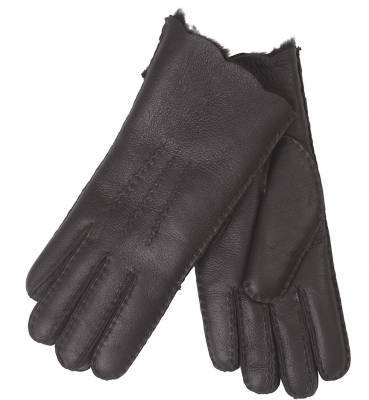 Arnaq Shearling Gloves, Dark Brown