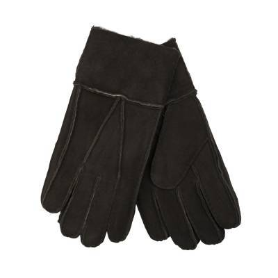 Kunuk Shearling Gloves, Dark brown