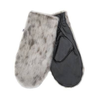 Aput Mittens w. Leather, Natural Ringseal