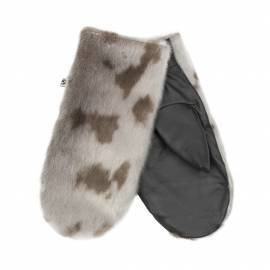Aput Mittens w. Leather, Natural Harpseal