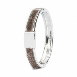 Niviaq Bracelet, Silver/Natural 10 mm