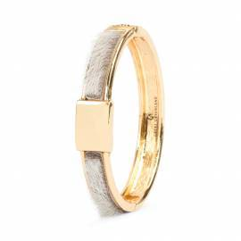 Niviaq Bracelet, Gold/Natural 10 mm