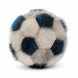 Soft Handball made in sealskin - Natural/Blue