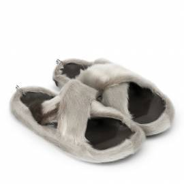 Cross Sandal w. Natural Sealskin