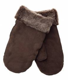Sava Shearling Mittens, Brown
