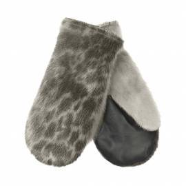 Minik Mittens, Ringseal, Natural/Leather