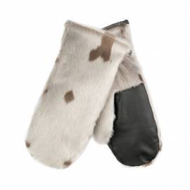 Minik Mittens, Harpseal, Natural/Leather
