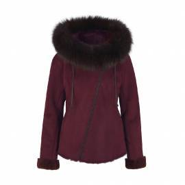 Shearling Jacket, Winered