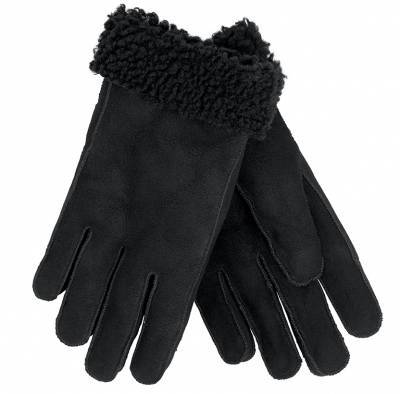 Nuka  Shearling Gloves, Black
