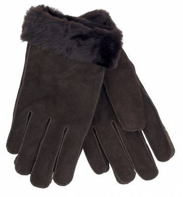 Nuka  Shearling Gloves, Dark brown