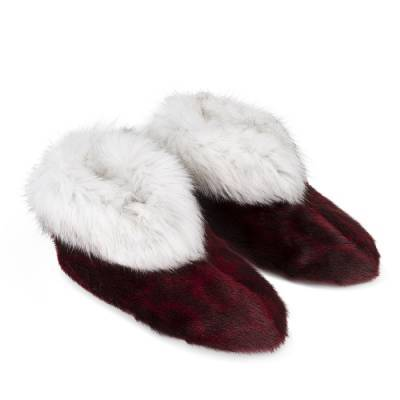 Qaamat Slippers, Red