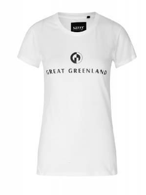 Great Greenland T-shirt Dame, Hvid