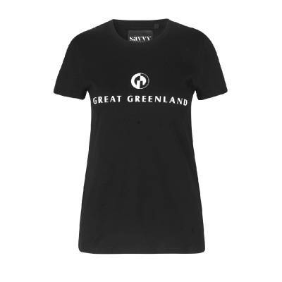 Great Greenland T-shirt Dame Sort