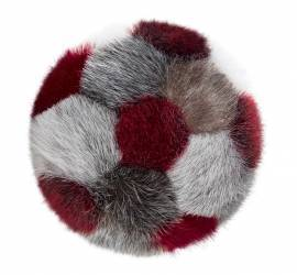 Soft Handball made in sealskin - Natural/Red