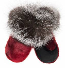Meeraq Children Mittens, Red